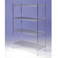 Racking Chrome 4 Tier 1800mm x 400mm x 1800mm