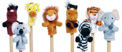 W Animal F/Puppet Set (P/Set Min 1(8Pcs/Set)
