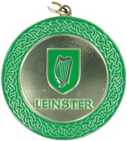50mm Gold Enamelled Leinster Medallion