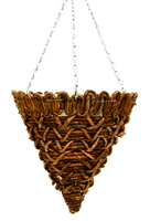 "Banana Rope Weave Hanging Basket Cone 14"""
