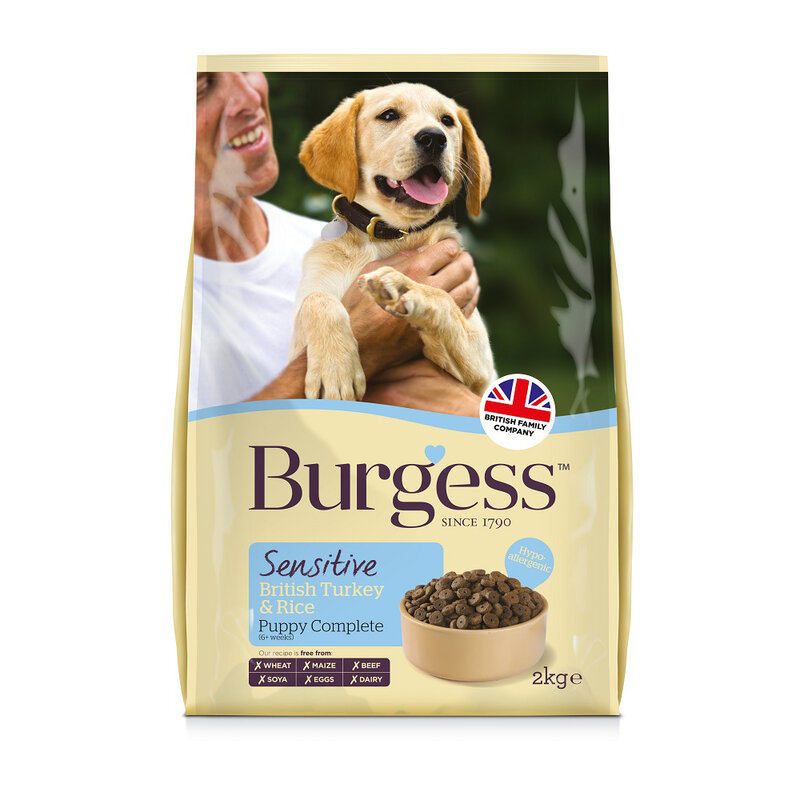 Burgess Sensitive Puppy Turkey & Rice 2kg