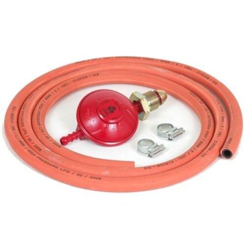 Barbeque Gas Kit - Includes Propane Regulator, 2m of Gas Hose & 2 M00 Hose Clips