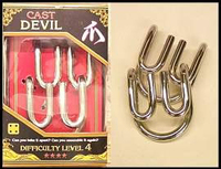 Cast Devil. Silver Cast Puzzle Difficulty Level 4. Can be ordered in multiples of 1.