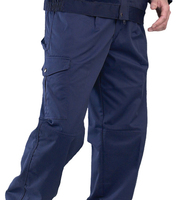 Super Click 9oz Cargo Trousers Navy