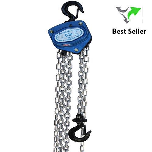 Tralift Manual Chain Block Silver Chain   1,000 Kg WLL