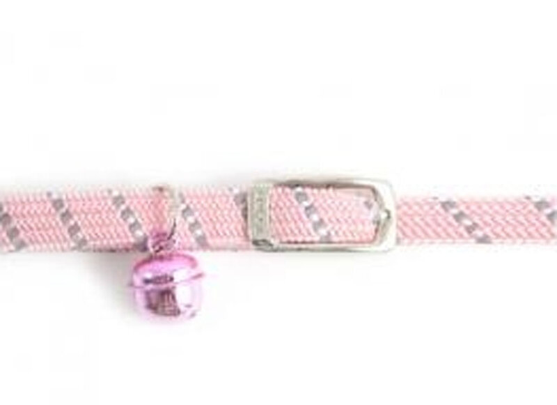 Ancol Reflective Pink Soft Weave Cat Collar