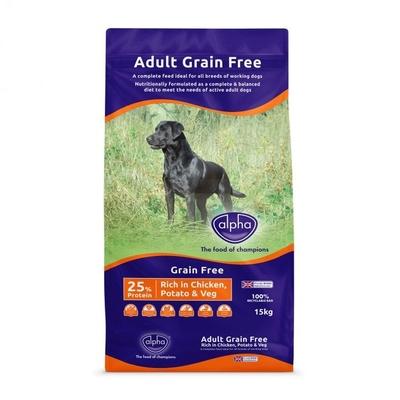 Alpha GRAIN-FREE Dog Food - Chicken 15kg [Zero VAT]