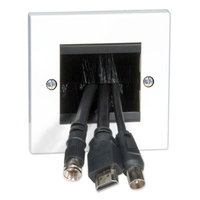 1 GANG CABLE ENTRY/EXIT PLATE WHI