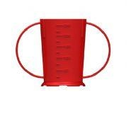 2 Handled Beaker Red Polycarbonate