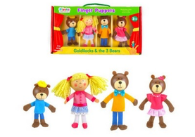 Goldilocks and the Three Bears Finger Puppet Set