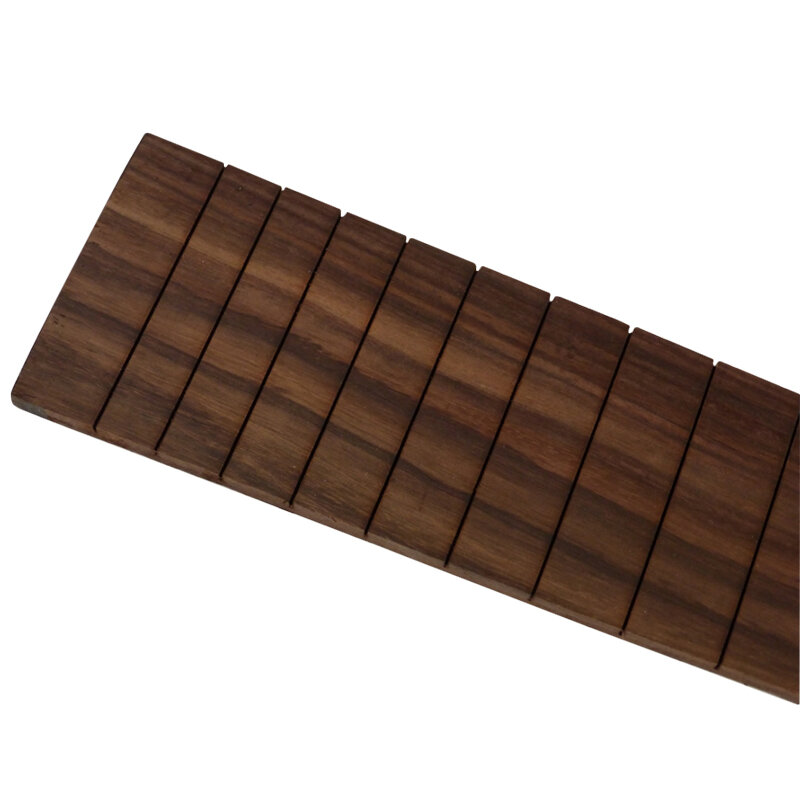 Bass guitar fingerboard, slotted