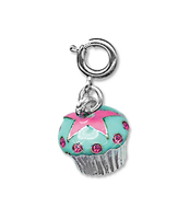 CHARM IT Blue Cupcake Charm. (Priced in singles, order in multiples of 6)