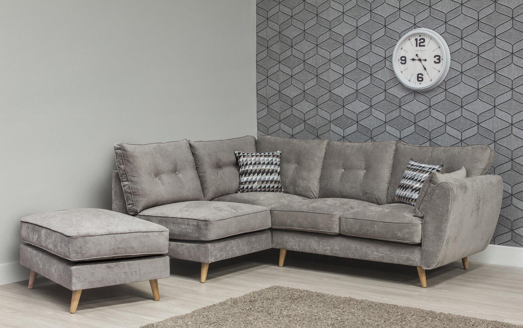 Marlo Fabric Sofa - Grey 4