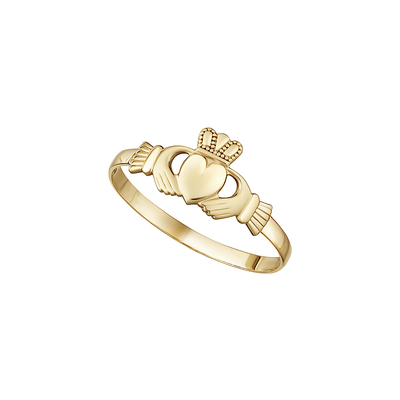 10K MINI CLADDAGH RING