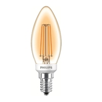 Philips 5W LED E14 Classic Candle Lamp Gold