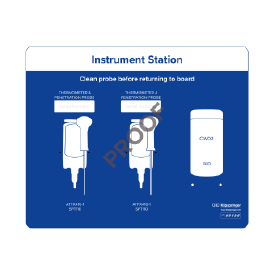 Instrument station for 2x instruments & 1x wipes