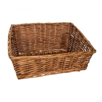 BASKET RECT. DISPLAY BROWN 56X46X28CM