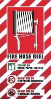 FIRE Hose Reel Blazon Sign