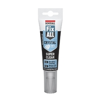 Soudal Fix-All Crystal Clear 125ml Easy Squeeze Tube