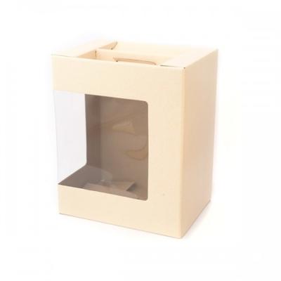 BOX GIFT W/WINDOW 330x250x350MM IVORY