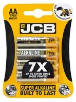 JCB BATTERY SUPER ALKALINE AA CARD 4