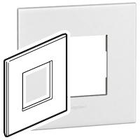Arteor (British Standard) 1 Gang 2 Module Square White| LV0501.0098