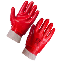 PVC Dip Knit Wrist Glove - Full Dip