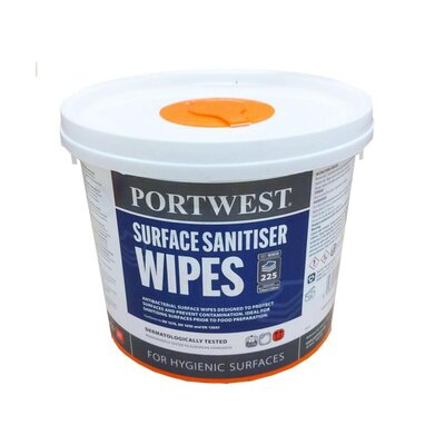 Portwest WIW50 Surface Sanitiser Wipes (225)