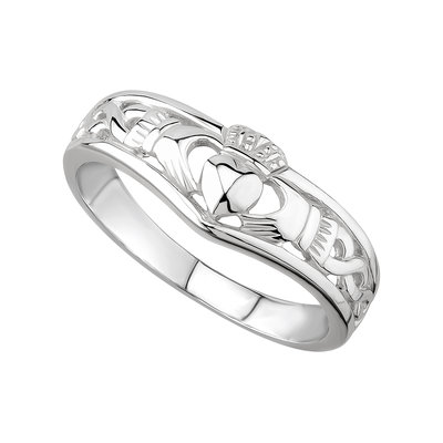 sterling silver claddagh wishbone ring s2595 from Solvar
