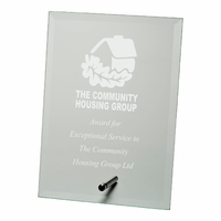 15cm Jade Glass Plaque (Plain Box)