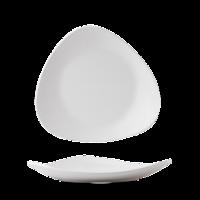 "Plastic White Lotus Melamine Platter 13 3/4"" Carton of 4"