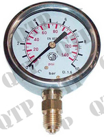 Oil Pressure Gauge 140 PSI Gluceryne Filled