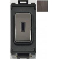 Schneider Ultimate Screwless Grid Black Nickel 2way Toggle|LV0701.1061
