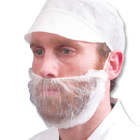 Beard Cover Non Woven, White, 1000/Case