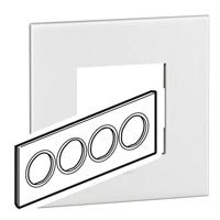 Arteor (British Standard) Plate 8 Module Round White | LV0501.0334