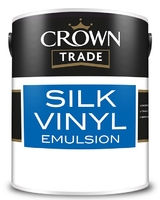CROWN SILK VINYL EMULSION PAINT BRILLIANT WHITE 5 LTR