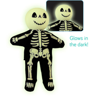 Skeleton Glow Wooden head Finger Puppet. (Priced in singles, order in multiples of 6)