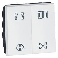 Arteor Double Switch For Curtain 2 Module Square - White  | LV0501.2586
