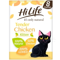 HiLife 'ION' Kitten Pouch Complete - Tender Chicken 70g 8pk x 4