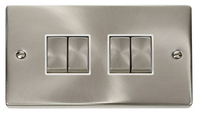 Click Litehouse DECO 4G 2Way Ingot Switch White Insert Satin Chrome