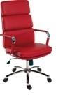 Teknik 1097RD Deco Executive Red Chair