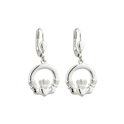 S/S CLADDAGH DROP EARRINGS