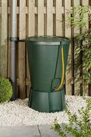 INDIGO GREEN WATER BUTT C/W BASE 220LT