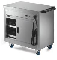 Lincat P6P2 Hot Cupboard Mobile With Plain Top
