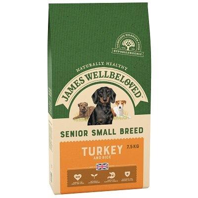 James Wellbeloved Turkey & Rice Small Senior Dog Food 7.5kg