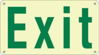 Ecoglo Photoluminescent 24 Metre Exit Sign 290x162mm