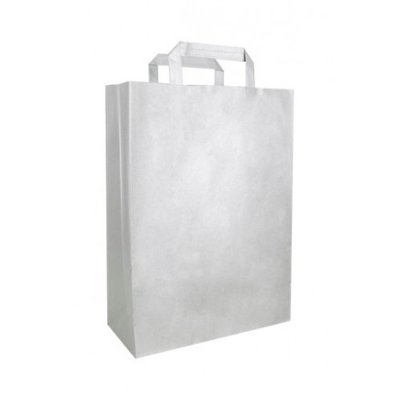 PAPER BAG SILVER LARGE 32X12X41CM BOX 25
