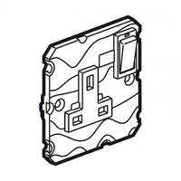 Arteor 1 Gang 13Amp Socket - White    LV0501.2426