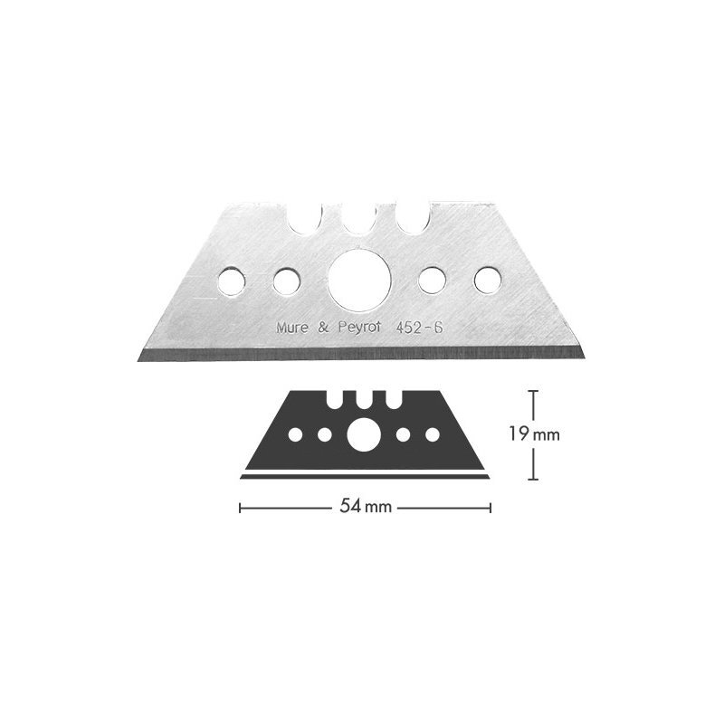 Replacement Blades for K8920/K8923 Safety Knife, Stainless Steel (x10)
