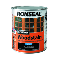 5 Year Woodstain 750ml Ebony